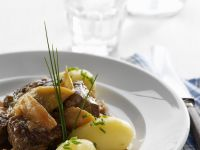 Mutton Stew with Capers and Leeks recipe