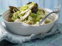 Napa Cabbage and Morel Mushrooms recipe