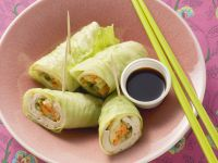 Napa Cabbage Leave Spring Rolls recipe