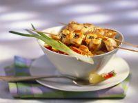 Nasi Goreng (Indonesian Rice) with Chicken Skewers (Satay) recipe