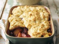 Nectarine and Blackberry Cobbler recipe