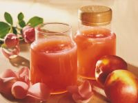 Nectarine Jelly with Rose Petals recipe