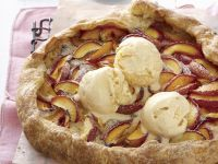 Nectarine and Marzipan One-crust Pie recipe