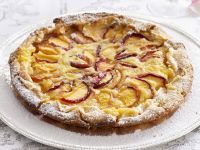 Nectarine Tart with Vanilla Cream and Ginger recipe