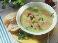 Nettle Bisque with Salmon recipe
