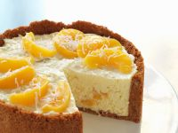 No-Bake Peach Cheesecake recipe