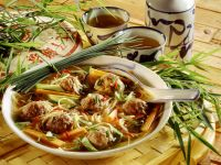 Noodle Soup with Meatballs recipe