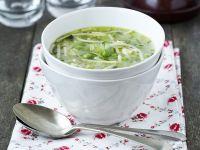 Noodle Soup with Peas recipe