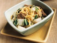 Steak and Chard Noodle Bowl recipe