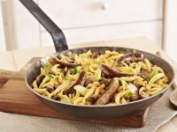 Noodles with Sausages recipe