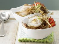 Noodles with Sprouts and Eggs recipe
