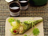 Nori, Rice, Avocado and Apple Roll recipe