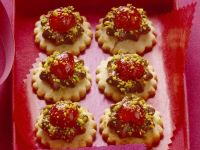 Nougat Cookies with Cherries and Pistachios recipe