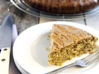 Nut Cake with Coffee Glaze recipe