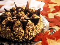 Nut Cake with Nougat Cream and Cocoa recipe