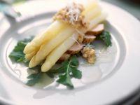 Nutty Asparagus with Sliced Game Bird recipe
