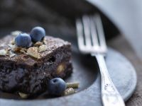 Nutty Blueberry Brownies recipe