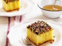 Nutty Lemon Drizzle Traybake recipe