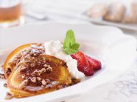 Nutty Pancakes with Whipped Cream recipe