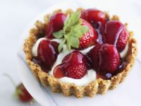 Nutty Strawberry Tart recipe