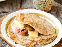 Oat Pancakes Stuffed with Smoked Pork recipe