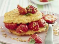 Oat Pancakes with Strawberries recipe