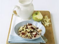 Oatmeal with Dried Cherries, Almonds and Grated Apple recipe