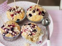 Oaty Mixed Berry Muffins recipe