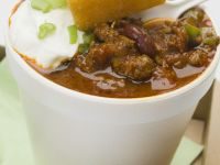 Old-fashioned Beef Chili with Sour Cream recipe