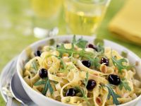 Olive and Arugula Pasta Bowl recipe