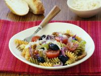 Olive and Tomatoes with Fusilli recipe