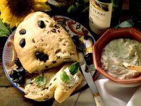 Olive Ciabatta with Ricotta Cream recipe