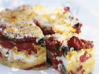 Olive, Sun-Dried Tomato, Goat Cheese and Red Pepper Cake recipe