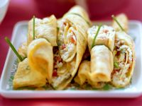 Omelet Rolls Filled with Spicy Rice recipe