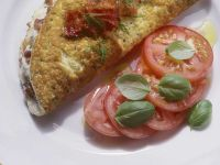 Omelet with Ham and Herbs recipe