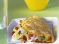 Omelet with Leeks and Bacon recipe