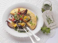 Omelet with Roasted Vegetables recipe