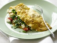 Omelet with Tomatoes and Feta Cheese recipe