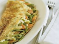 Omelets with Spring Vegetables recipe