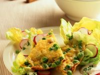 Omelette with Peas and Potatoes recipe