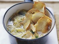 Onion Soup with Breaded Crisps recipe