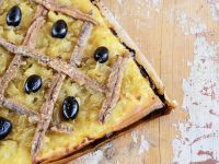 Onion Tart with Olives and Anchovies recipe