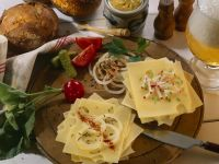 Open-Faced Cheese Sandwiches recipe