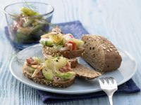 Open-Faced Cucumber and Ham Sandwiches recipe