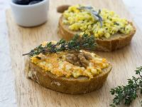 Open-Faced Egg Salad Sandwiches Two Ways recipe