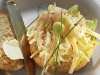 Open-faced Radish and Cheese Salad Sandwiches recipe