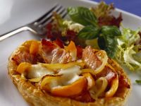 Open Pasties with Mozzarella and Vegetables recipe