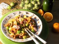 Orange and Brussels Sprouts Salad with Lentils recipe