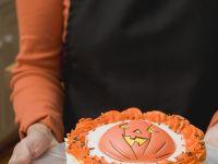 Orange and Chocolate Gateau with Pumpkin Decoration recipe