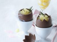 Orange and Rosemary Sorbet in Hollow Chocolate Easter Eggs recipe
